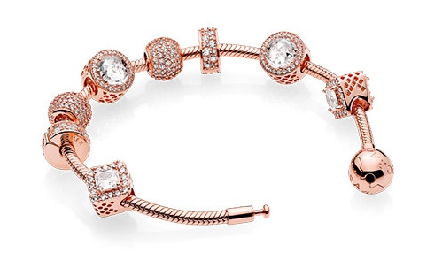 bijoux pandora rose